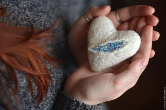 Подарки для влюбленных ручной работы. Ярмарка Мастеров - ручная работа. Купить Ледяное сердце валентинка подарок влюбленным. Handmade. Сердце