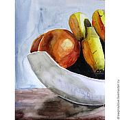 Картины и панно ручной работы. Ярмарка Мастеров - ручная работа Картина акварелью Натюрморт с фруктами. Handmade.
