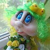 Куклы и игрушки ручной работы. Ярмарка Мастеров - ручная работа Полюшка - садовый ангел, авторская кукла ручной работы. Handmade.