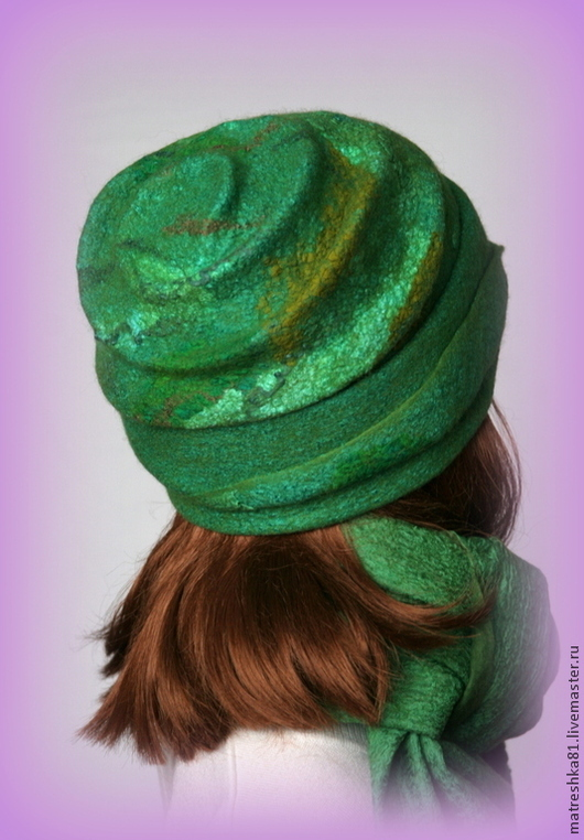 Шапки ручной работы. Ярмарка Мастеров - ручная работа. Купить Шапка валяная...на зиму.. Handmade. Зеленый, шапка из шерсти