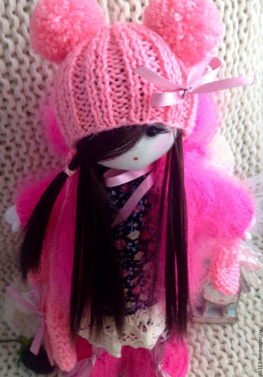 """Человечки ручной работы. Ярмарка Мастеров - ручная работа. Купить Куколка """"Илария"""". Handmade. Розовый, игрушка, для деток, хлопок"""