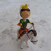 Для дома и интерьера ручной работы. Ярмарка Мастеров - ручная работа Принц на белом коне, елочная игрушка. Handmade.