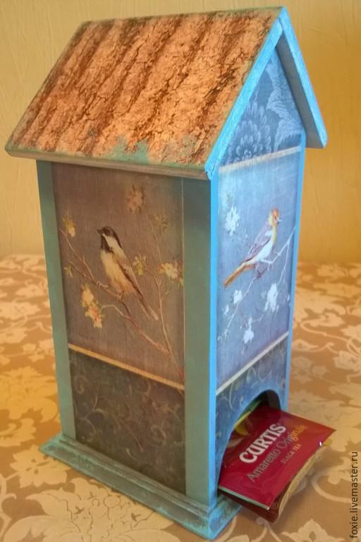 """Кухня ручной работы. Ярмарка Мастеров - ручная работа. Купить Чайный домик """"Осенние птицы"""". Handmade. Чайный домик, птицы"""