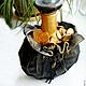 Декоративная посуда ручной работы. Ярмарка Мастеров - ручная работа. Купить Бутылка По фэншую. Handmade. Кожа натуральная, кожа