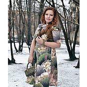 """Одежда ручной работы. Ярмарка Мастеров - ручная работа """"Там лилии цветут """" шелковое платье. Handmade."""