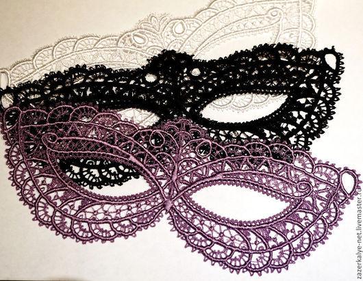 Карнавальные костюмы ручной работы. Ярмарка Мастеров - ручная работа. Купить Кружевная маска. Handmade. Белый, кружевная тесьма