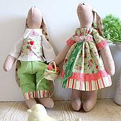 Куклы и игрушки handmade. Livemaster - original item Summer Hares interior toys, a gift for a calico wedding. Handmade.