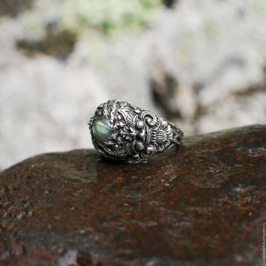 """Кольца ручной работы. Ярмарка Мастеров - ручная работа. Купить Серебряное кольцо с лабрадоритом """"Баронг"""". Handmade. Кольцо из серебра 925"""