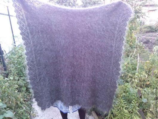 Шали, палантины ручной работы. Ярмарка Мастеров - ручная работа. Купить Пуховая шаль из серого козьего пуха. Handmade. Серый