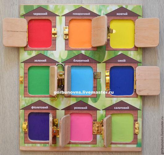 """Развивающие игрушки ручной работы. Ярмарка Мастеров - ручная работа. Купить Бизиборд Развивающий Модуль Доска  """"Цветовая Гамма"""". Handmade."""