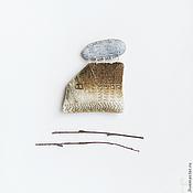 Украшения ручной работы. Ярмарка Мастеров - ручная работа Брошь из ткани Домик: Туманное утро. Handmade.