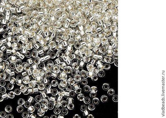 Для украшений ручной работы. Ярмарка Мастеров - ручная работа. Купить Бисер круглый Miyuki 15/0 1 Silver Lined Crystal. Handmade.