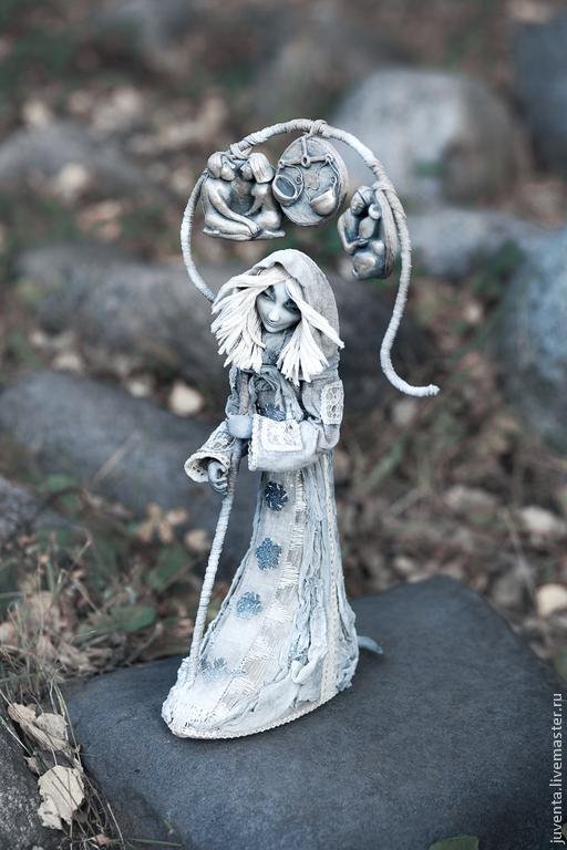 Коллекционные куклы ручной работы. Ярмарка Мастеров - ручная работа. Купить Воздух. Handmade. Серый, белый, знаки зодиака, близнецы