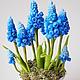 """Цветы ручной работы. Ярмарка Мастеров - ручная работа. Купить Композиция """"Мускари"""". Handmade. Синий, весеннее настроение, подарок женщине"""
