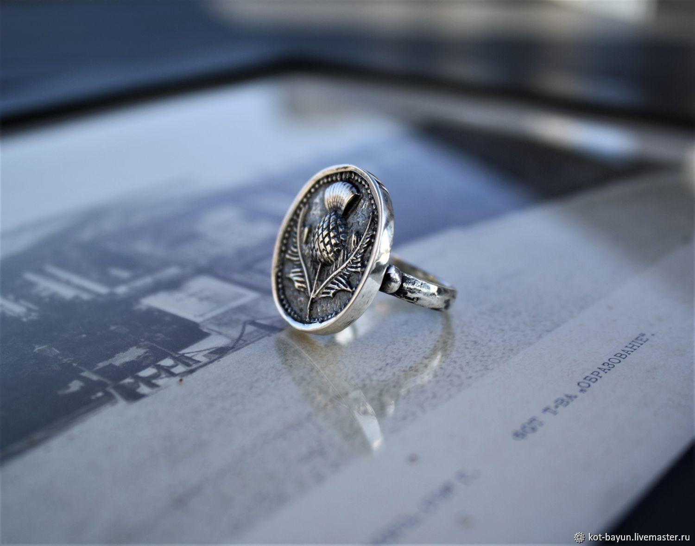 Кольцо - печать Чертополох серебро 925, Кольца, Москва,  Фото №1