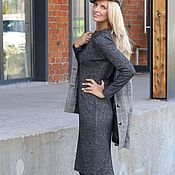 Одежда handmade. Livemaster - original item Double-sided Jersey sheath dress warm new York. Handmade.