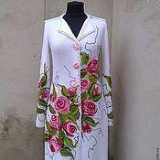 Одежда ручной работы. Ярмарка Мастеров - ручная работа пальто вязаное весеннее. Handmade.
