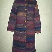 Одежда handmade. Livemaster - original item Knitted coat with hood in the Empire style, stylish knitted coat. Handmade.
