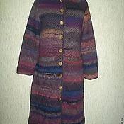 Одежда ручной работы. Ярмарка Мастеров - ручная работа Вязаное пальто с капюшоном в стиле ампир. Handmade.