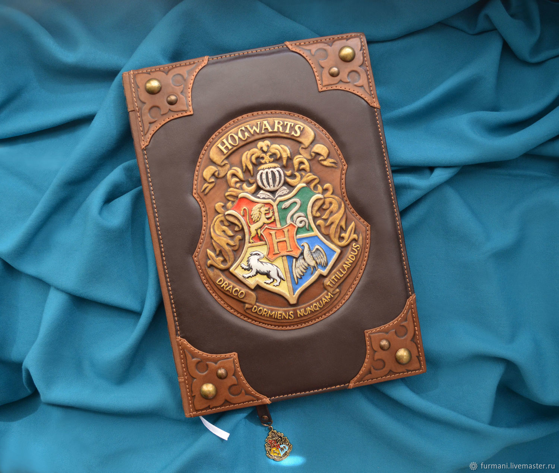 "Leather notebook ""HOGWARTS"", Notebooks, Krivoy Rog,  Фото №1"