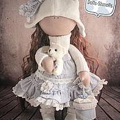 Куклы и игрушки ручной работы. Ярмарка Мастеров - ручная работа Кукла текстильная, интерьерная, в бело-голубых тонах.. Handmade.
