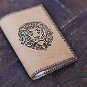 "Канцелярские товары handmade. Livemaster - original item COVER passport ""LEO"". Leather. Handmade."