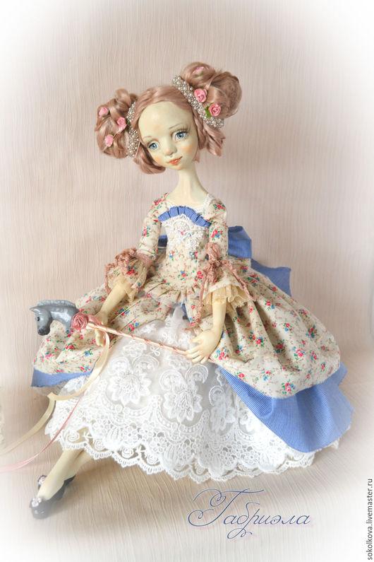 Коллекционные куклы ручной работы. Ярмарка Мастеров - ручная работа. Купить Габриэла. Будуарная кукла. Handmade. Голубой, кукла из пластики