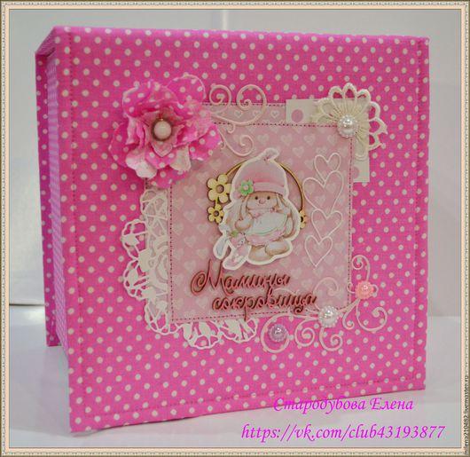 Подарки для новорожденных, ручной работы. Ярмарка Мастеров - ручная работа. Купить Комплект подарочный для девочки. Handmade. Розовый, папка для документов