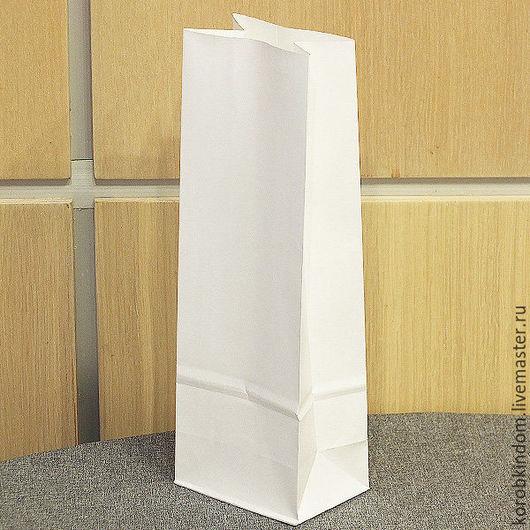 Упаковка ручной работы. Ярмарка Мастеров - ручная работа. Купить Пакет 9х26х6,5 крафт белый без ручек. Handmade.