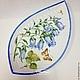 """Тарелки ручной работы. Ярмарка Мастеров - ручная работа. Купить Роспись фарфора.Коллекция тарелок на стену """" Флора"""". Handmade."""