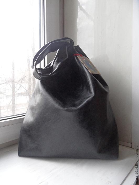 Женские сумки ручной работы. Ярмарка Мастеров - ручная работа. Купить Потертый-пакет майка. Handmade. Черный, сумка-торба