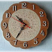 Для дома и интерьера handmade. Livemaster - original item Birch bark clock for home wall (Russian gift). Handmade.