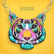 Колье ручной работы. Ярмарка Мастеров - ручная работа Радужный тигр. Handmade.