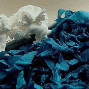 Материалы для творчества ручной работы. Ярмарка Мастеров - ручная работа Шебби-лента Гламурный павлин. Handmade.