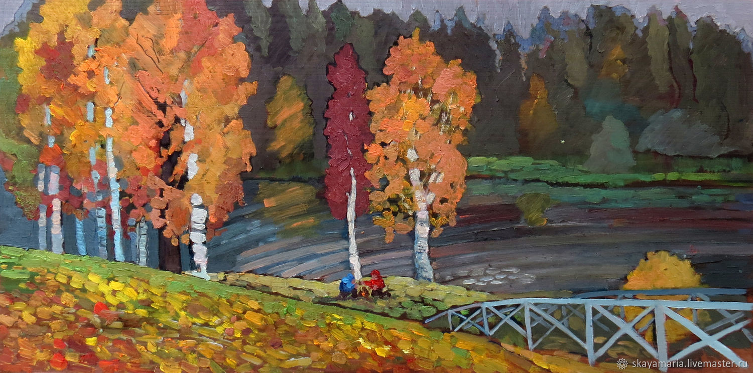 Oil painting. Autumn Golden landscape, Pictures, Moscow,  Фото №1