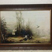 Картины и панно ручной работы. Ярмарка Мастеров - ручная работа Охота на фазана - вышивка крестом. Handmade.