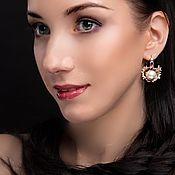 Украшения handmade. Livemaster - original item More earrings shells, liquid glass, gilding,