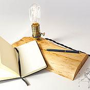 Настольные лампы ручной работы. Ярмарка Мастеров - ручная работа Настольная лампа Maitre из дерева. Лампа из слэба. Handmade.