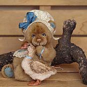 Куклы и игрушки ручной работы. Ярмарка Мастеров - ручная работа Фрося и Гуся (12.5см и 6,5см). Handmade.