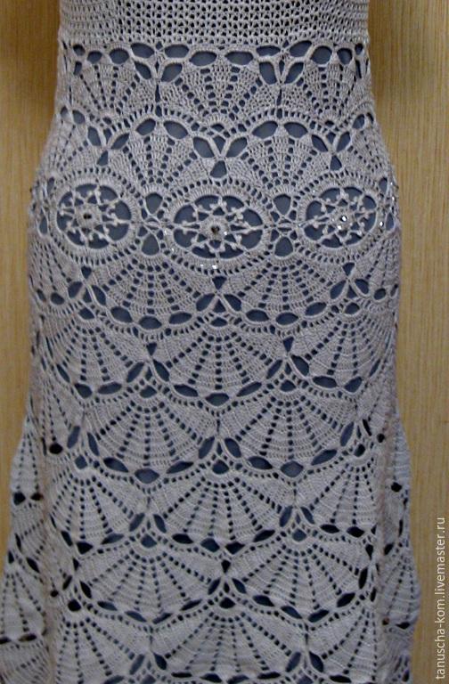 Вязаное крючком платье летнее