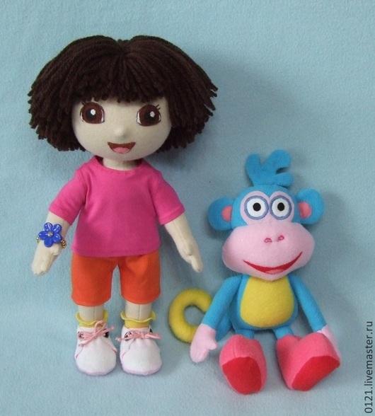 Человечки ручной работы. Ярмарка Мастеров - ручная работа. Купить Кукла Даша путешественница и обезьянка Башмачек. Handmade.