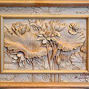 Картины и панно ручной работы. Ярмарка Мастеров - ручная работа Лотосы. Handmade.