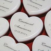 Свадебный салон ручной работы. Ярмарка Мастеров - ручная работа Свадебное мыло комплимент для гостей.. Handmade.