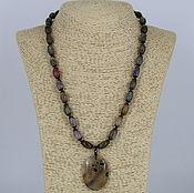 Украшения handmade. Livemaster - original item Necklace with pendant agates