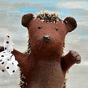 Кукольный театр ручной работы. Ярмарка Мастеров - ручная работа Перчаточная игрушка: Еж из тумана. Handmade.