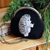 Сумки и аксессуары handmade. Livemaster - original item Bag purse hedgehog in the fog. Handmade.