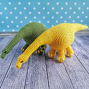 Куклы и игрушки handmade. Livemaster - original item Soft knitted toy Dinosaur (Diplodocus). Handmade.