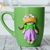 """Посуда ручной работы. Ярмарка Мастеров - ручная работа Чашка """"Весна!"""". Handmade."""