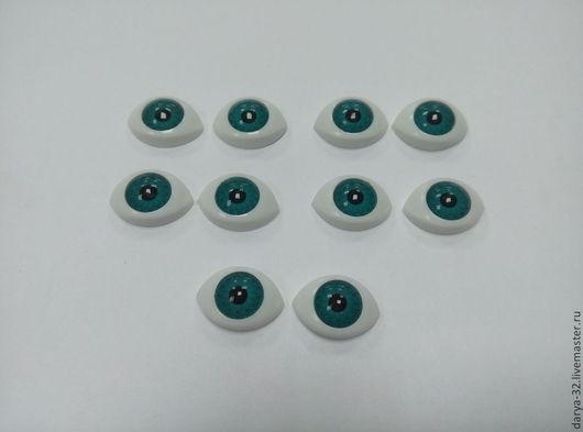 """Куклы и игрушки ручной работы. Ярмарка Мастеров - ручная работа. Купить Глаза """"Рыбки  """"  16мм. Handmade. Голубой"""