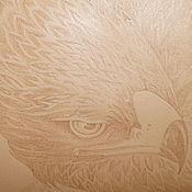 """Картины и панно ручной работы. Ярмарка Мастеров - ручная работа Картина на коже """"Орёл"""". Handmade."""